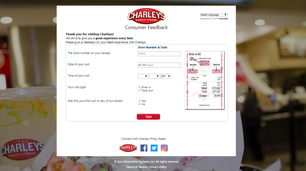 My O'Charley's Online Survey
