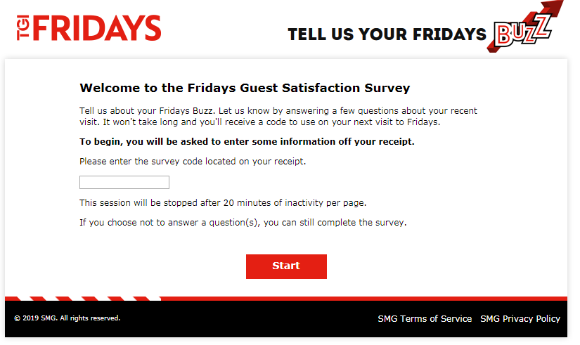 TGI Friday's Guest Experience Survey