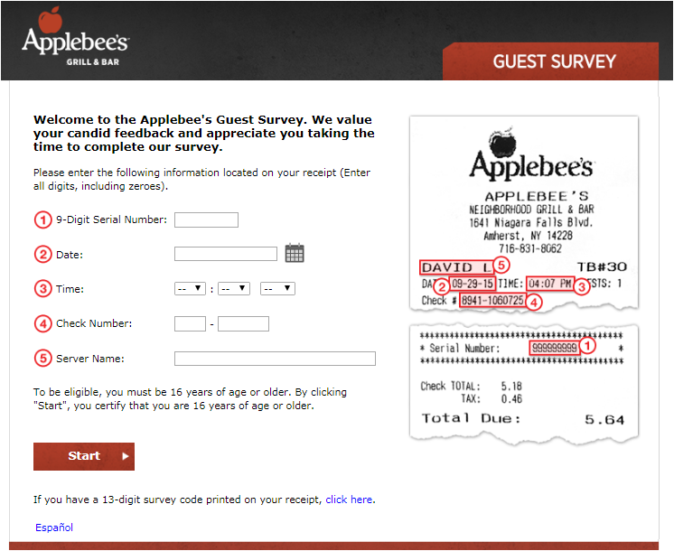 TalkToApplebee's Survey 2020