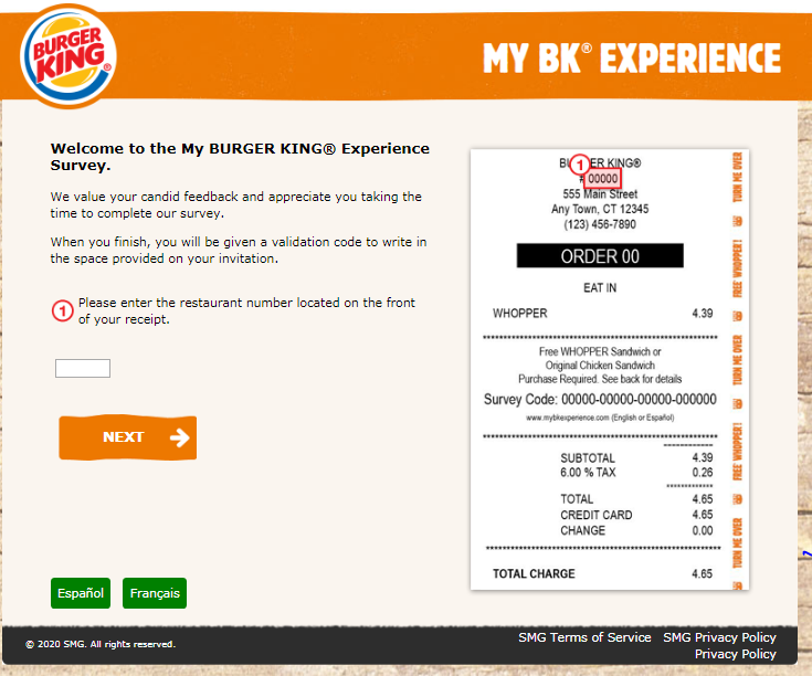 My Bk Experience Customer Survey