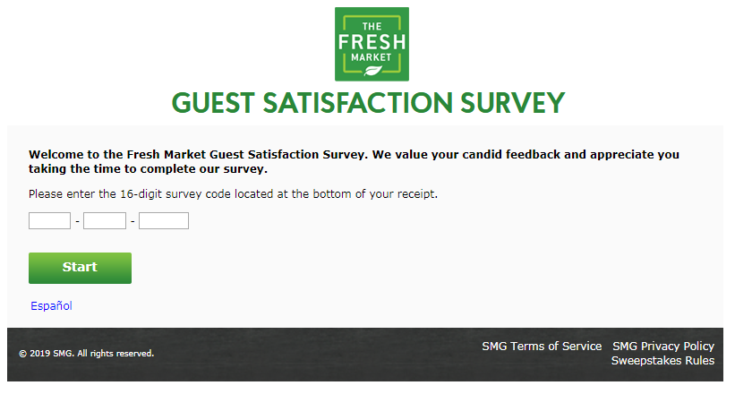 Fresh Market Customer Feedback Survey
