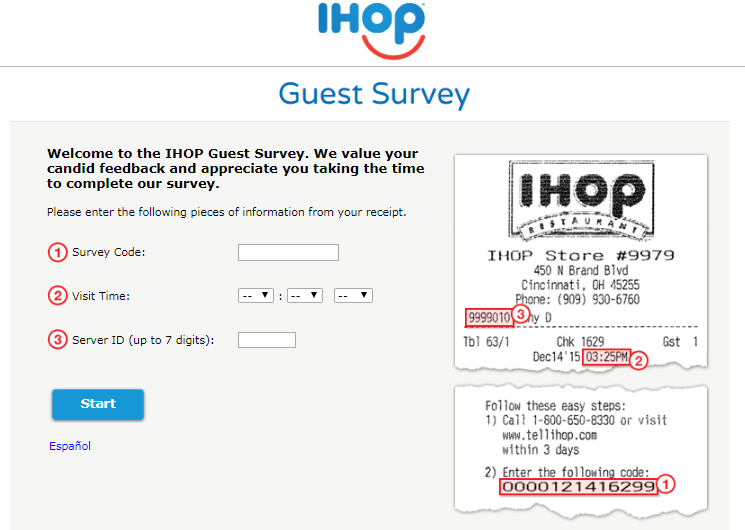 iHOP Customer Experience Survey