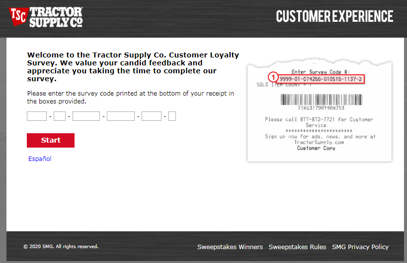 Tractor Supply Customer Experience Survey