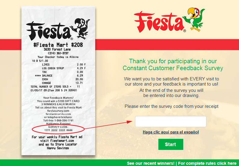 Fiesta Mart Customer Experience Survey