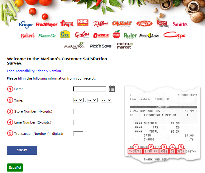 Mariano's Restaurant Customer Satisfaction Survey