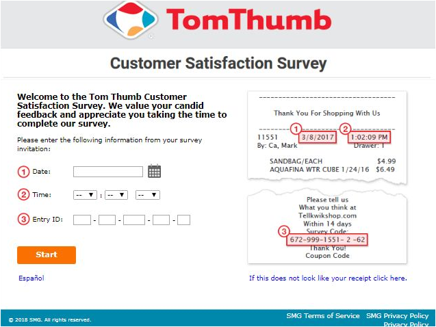 Tom Thumb Guest Satisfaction Survey 2020