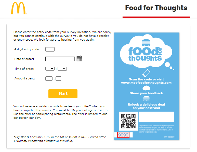 McDFoodForThoughts Survey