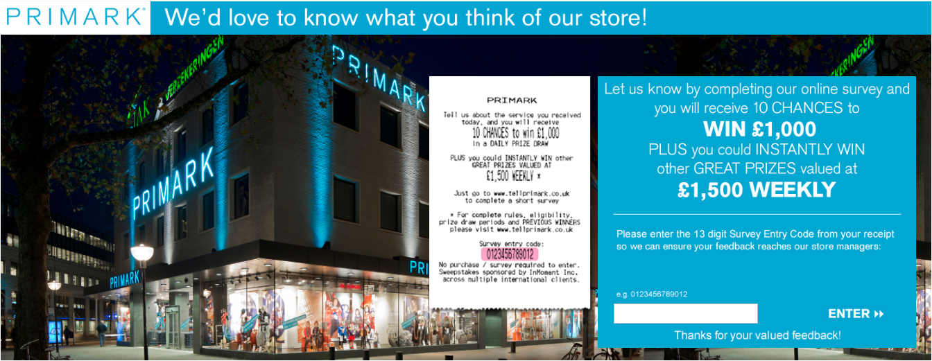 Primark Guest Satisfaction Survey